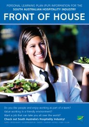 personal learning plan (plp) - Hospitality Industry Training