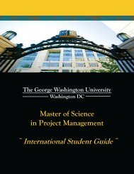 International Student Guide - GW MSPM