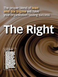The Right Mix (Lean and Six Sigma) - QAI