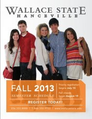 Download the 2013 Fall Semester Schedule - Wallace State ...