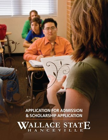 application for admission & scholarship application - Wallace State ...