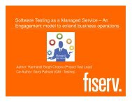 Software Testing as a Managed Service – An Engagement ... - QAI