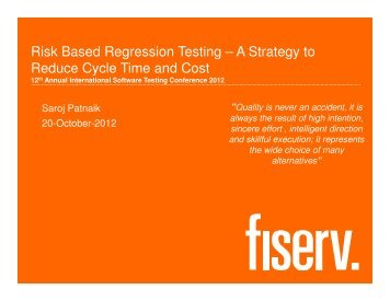(Microsoft PowerPoint - 06_Risk Based Regression Testing ... - QAI
