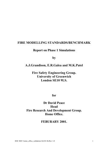 full - Fire Safety Engineering Group - University of Greenwich