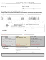 EMPLOYEE AND/OR DEPENDENT TUITION WAIVER FORM