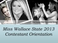 Contestant Orientation - Wallace State Community College
