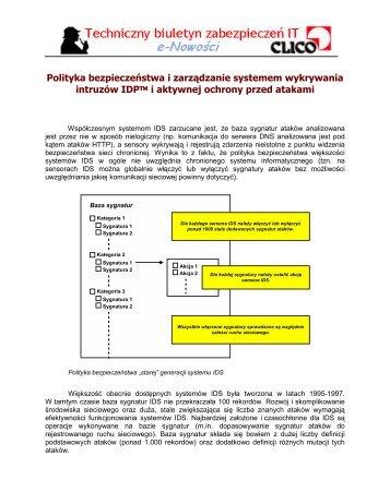 Polityka bezpieczeństwa i zarządzanie systemem ... - Clico