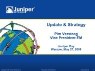 Juniper Networks Corporate Overview