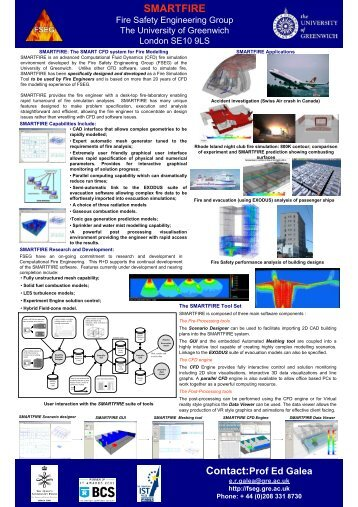 SMARTFIRE - Fire Safety Engineering Group - University of Greenwich