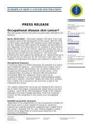 PRESS RELEASE - European Skin Cancer Foundation