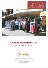 Gründlers Sommer Stammgastwoche