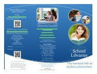 School Libraries - Library Media Services
