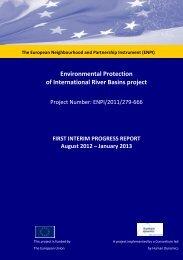 First Progress Report - Environmental Protection of International ...