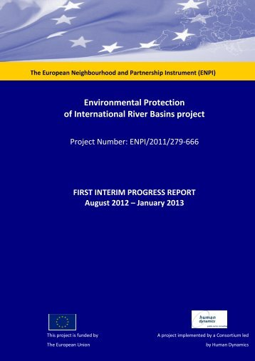 First Progress Report - Environmental Protection of International ...