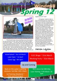 Windmill Newsletter - Earlswood Lakes Sailing Club