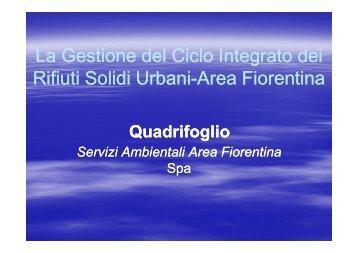 QUADRIFOGLIO Spa 2012 - International Conference on Integrated ...