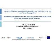ökonomische Auswirkungen Region Hannover - Seeconsult GmbH