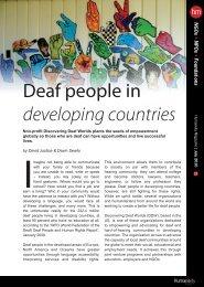 Humaneity Magazine - Discovering Deaf Worlds