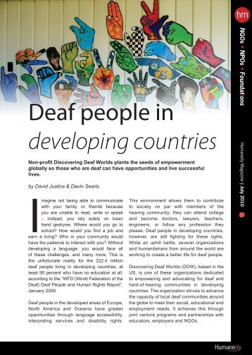 Humaneity Magazine - Discovering Deaf Worlds