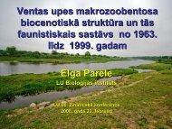 Ventas upes makrozoobentosa biocenotiskā struktūra un tās ...
