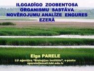 ilggadīgo zoobentosa organismu sastāva novērojumu analīze ...