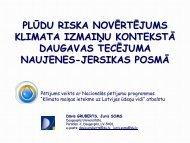 Ievads - Klimata maiņas ietekme uz Latvijas ūdeņu vidi