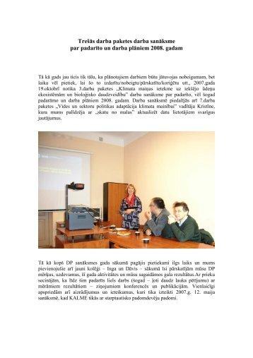 Ekspedīcijas uz Salacu un Burtnieku 2007 - Klimata maiņas ietekme ...