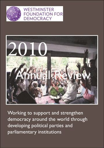 WFD Annual Review 2010.pdf - Westminster Foundation for ...