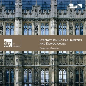 TWC UK Prospectus of Courses - Westminster Foundation for ...