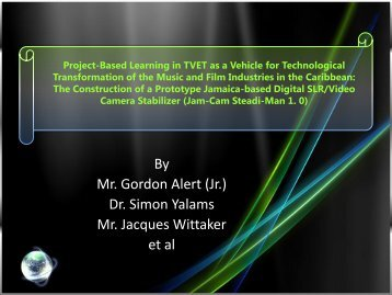 Project-Based Learning in TVET as a Vehicle for ... - SOE Conferences