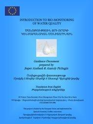 Introduction to Biomonitoring - Kura River Basin