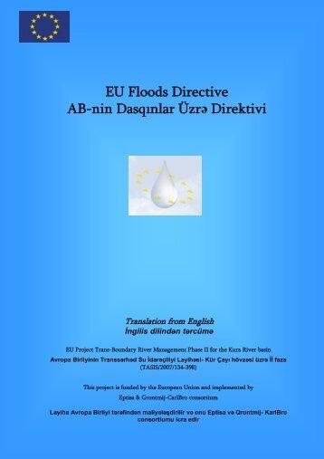 EU Floods Directive AB-nin Dasqınlar Üzrə Direktivi - Kura River Basin
