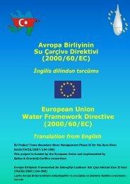 Avropa Birliyinin Su Çərçivə Direktivi (2000/60 ... - Kura River Basin
