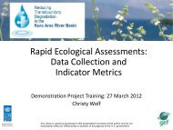 Demo Training: REAs Data Collection and Indicator Matrix