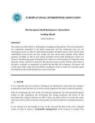 european small hydropower association - Stream Map - ESHA