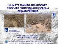 """LU 66. zinātniskā konference """"Klimata mainība un ūdeņi"""""""