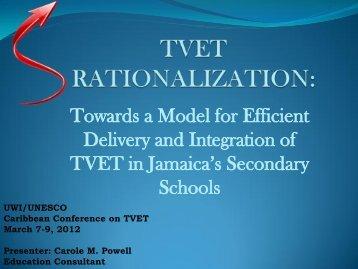 PA12 TVET Rationalization-Towards a Model ... - SOE Conferences