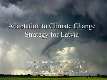 Policy Instruments for Adaptation to Climate Change Strategies