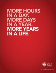 hours in a day. More days - Heart and Stroke Foundation of Ontario