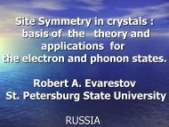 Site Symmetry in crystals : basis of the theory and application for the ...