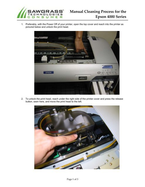 Manual Cleaning Process for the Epson 4000 Series