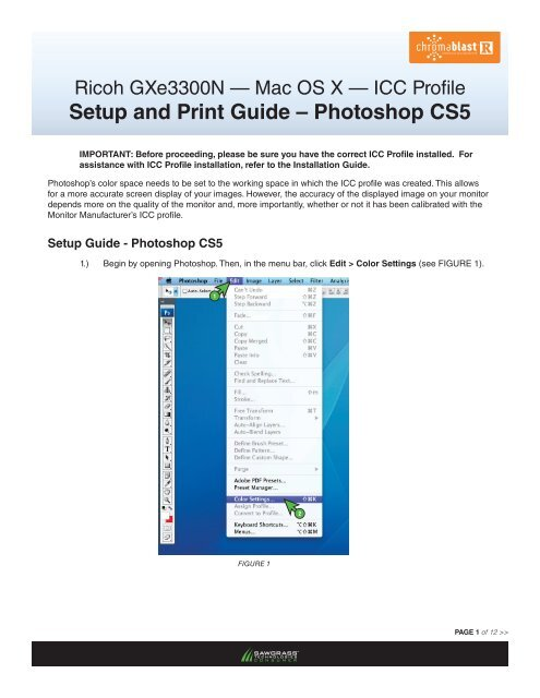 Setup and Print Guide – Photoshop CS5