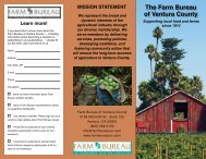 Download Our Brochure - The Farm Bureau of Ventura County