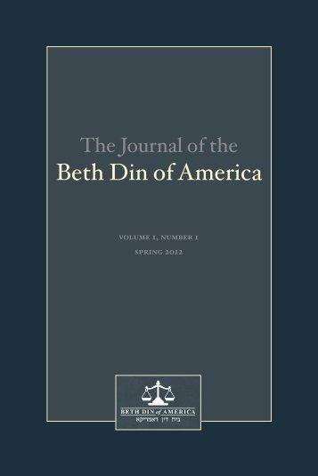 Beit Din - Beth-Din of America
