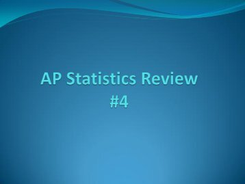 AP Statistics Review #4