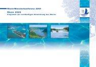 Rhein-Ministerkonferenz 2001 Rhein 2020 - IKSR
