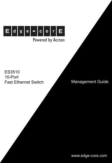 ES3510 Management Guide