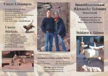 Steinkurse u. Aktionen - Steinbildhauerwerkstatt Alexander Schwarz