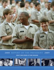 2008 RepoRt of the pResident 2009 - Jesuit High School