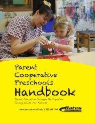 Parent Cooperative Preschools Handbook - Bates Technical College